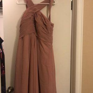 Brides maids dress floor length